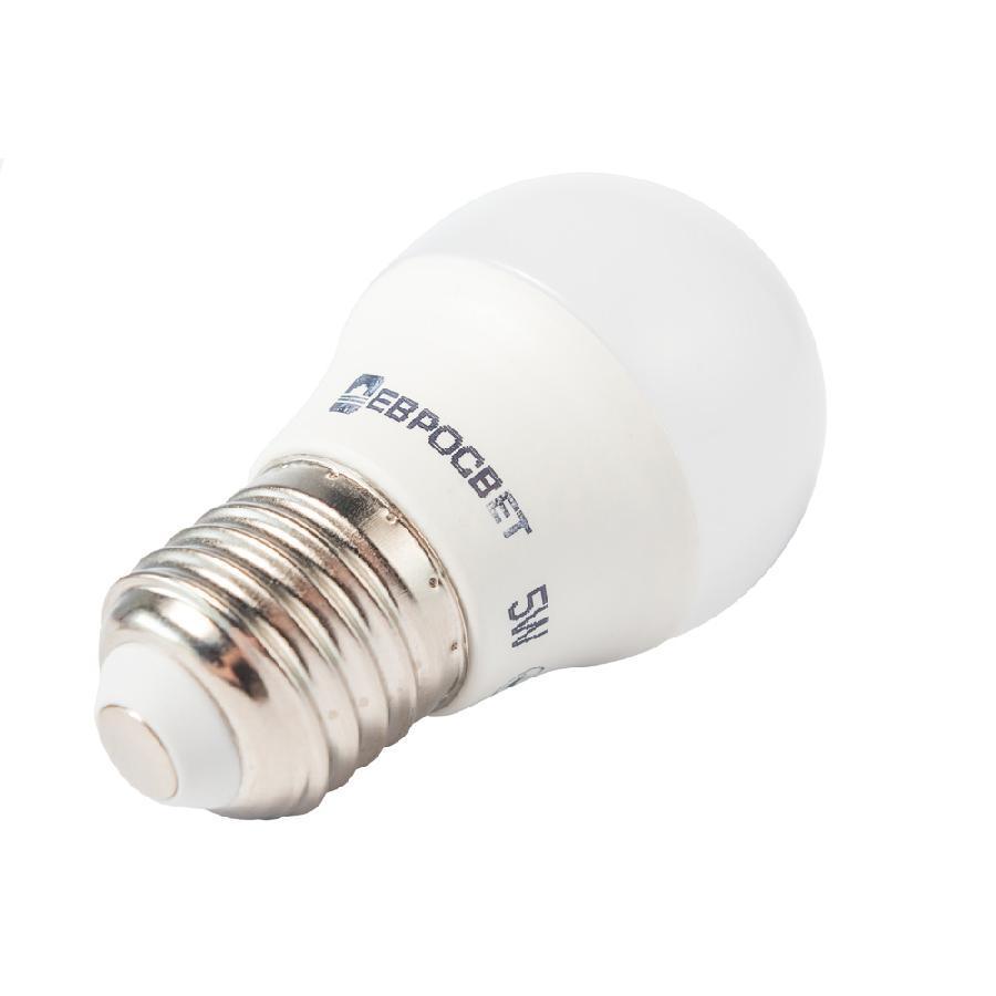 Лампа светодиодная ЕВРОСВЕТ 5Вт 3000К Р-5-3000-27 E27