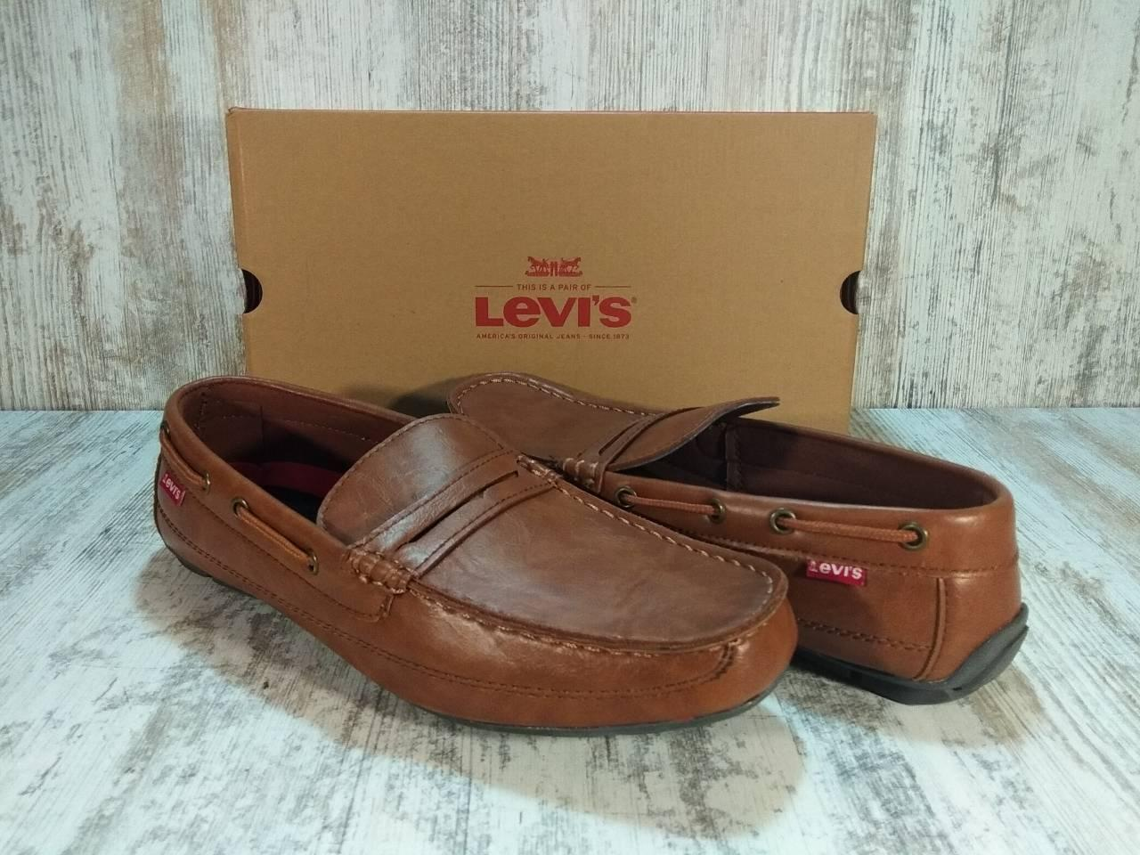 Туфли, мокасины кожаные мужские Levi's® Shoes Pierce Burnish Оригинал США. Размер 44 US 10