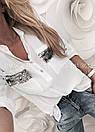 Рубашка свободного кроя декорированная пайетками, фото 3