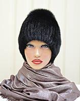 """Женская меховая шапка из ондатры """"Бубон-разрез"""", фото 1"""