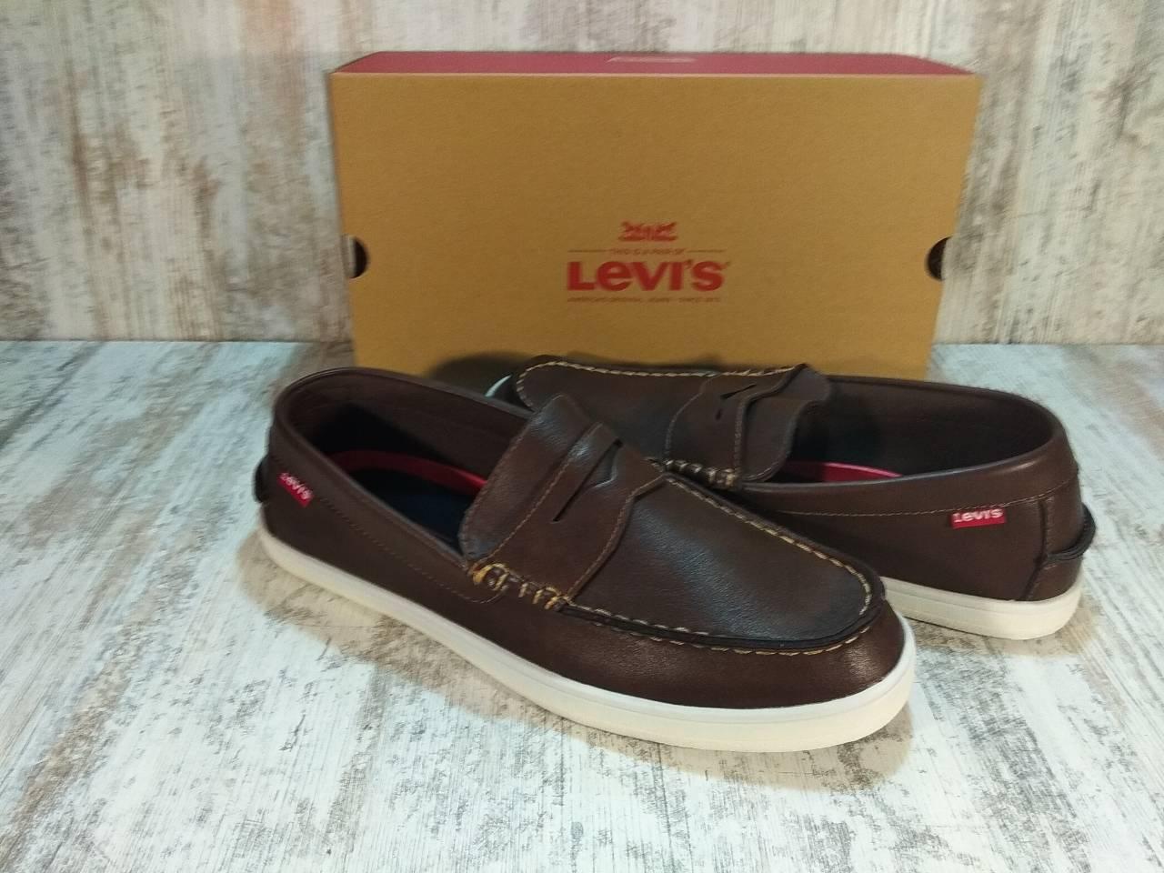 Туфли, мокасины кожаные мужские Levi's® Shoes Mast Nappa Оригинал США. Размер 45 US 11