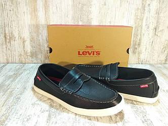 Туфли, мокасины кожаные мужские Levi's® Shoes Mast Nappa Оригинал США. Размер 44 US 10