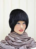 """Женская шапка меховая """"Бубон-разрез,высокий"""""""