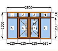 Балконная рама  профиль WDS ламинированный