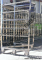 Коптильная рама на жаростойких колесах, фото 1