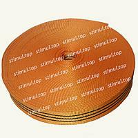 Лента буксировочная полипропиленовая 50 мм х 50 метров - тесьма буксирная оранжевая