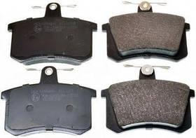 Колодки тормозные Audi A4 B5 1996-2001 (дисковые) задние KEMP