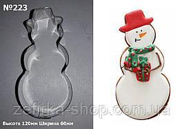 Вырубка для пряника и печенья Снеговик