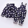 Детский комбинезон, принт Мишки, темно-синий, фото 2