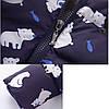 Детский комбинезон, принт Мишки, темно-синий, фото 5