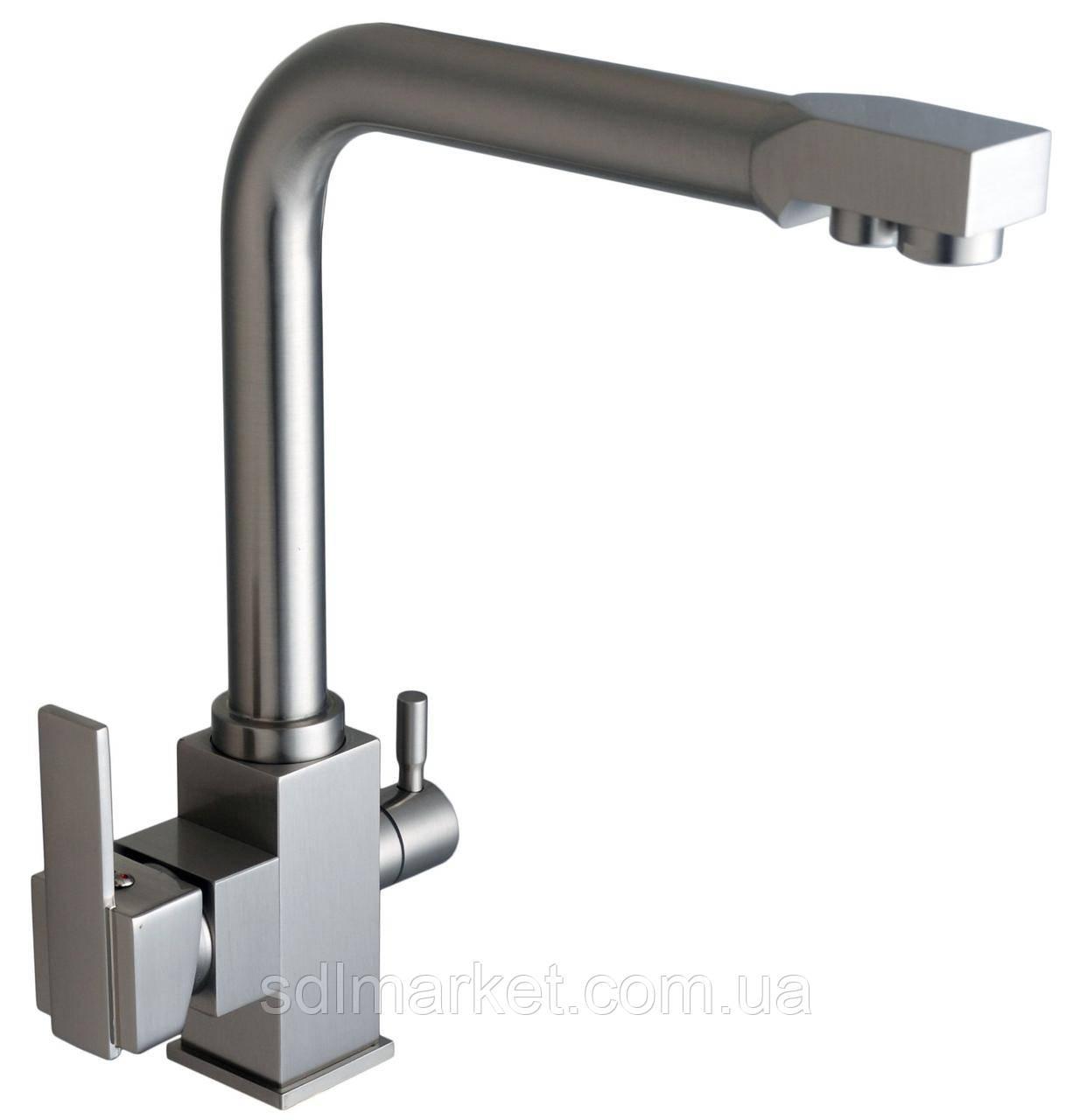 Смеситель кухонный Globus Lux LAZER GLLR-0100 комбинированный