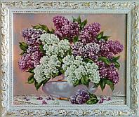 Картина маслом Сирень
