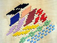 Рахункові палички, 126 елементів, за методикою кюизенера (Кюізенера), счетные палочки