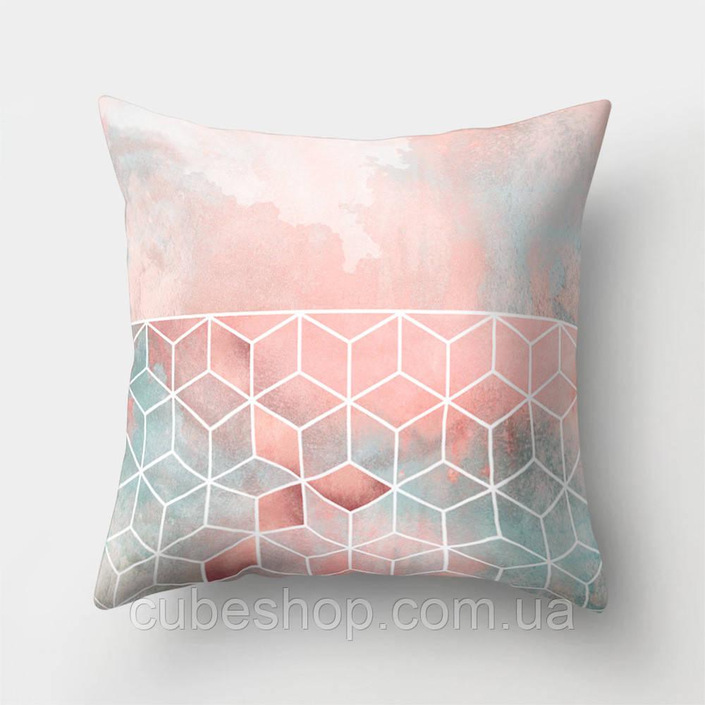 Декоративная подушка Cubes on the Pink