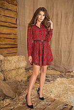 Женское платье в клетку №500, фото 2