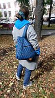 Сумка женская стеганная, женская сумка, сумка из ткани