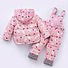 Детский комбинезон, принт Мишки, розовый, фото 2