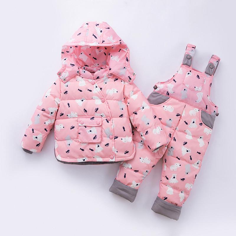 Детский комбинезон, принт Мишки, розовый