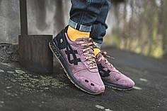 Мужские кроссовки Asics Gel Lyte Purple Schwarz   ( Реплика )