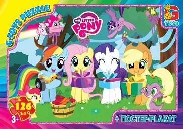 Пазлы из серии My little Pony (Маленькая пони), 126 эл. MLP012 ТМ G-To