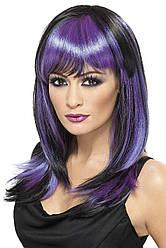 Парик фиолетовый