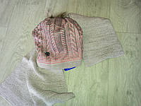Зимний комплект шапка и шарф  на флисе (Польша) Agbo, фото 1