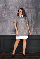 """Платье больших размеров """" Клетка """" Dress Code, фото 1"""
