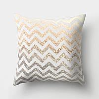 Декоративная подушка Zigzag Gold, фото 1