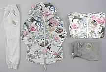 Трикотажный костюм-двойка для девочек Sincere оптом, 116-146 pp.