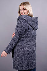 Женский теплый кардиган большого размера. синий размеры: 54,56,58,64, фото 2