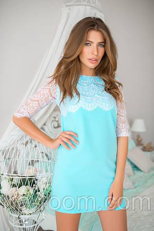 Женское мини-платье хлопок №233, фото 2