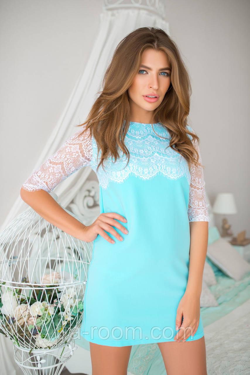 Женское мини-платье хлопок №233
