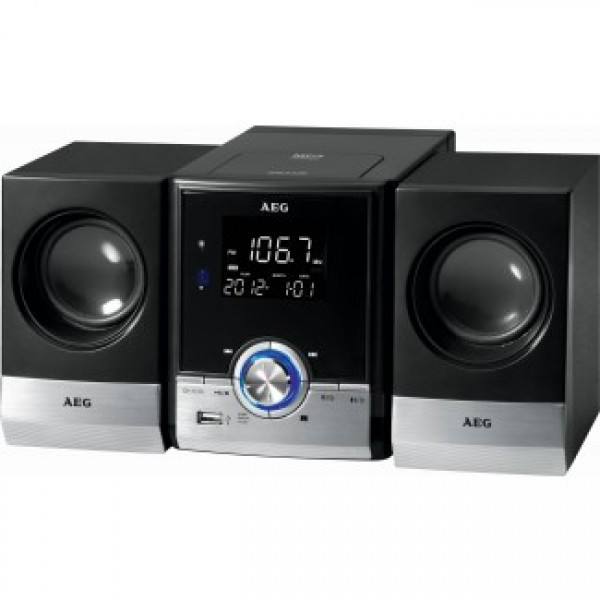 Mini-wieża AEG MC 4461 BT (czarna, CD, MP3, USB, Bluetooth)