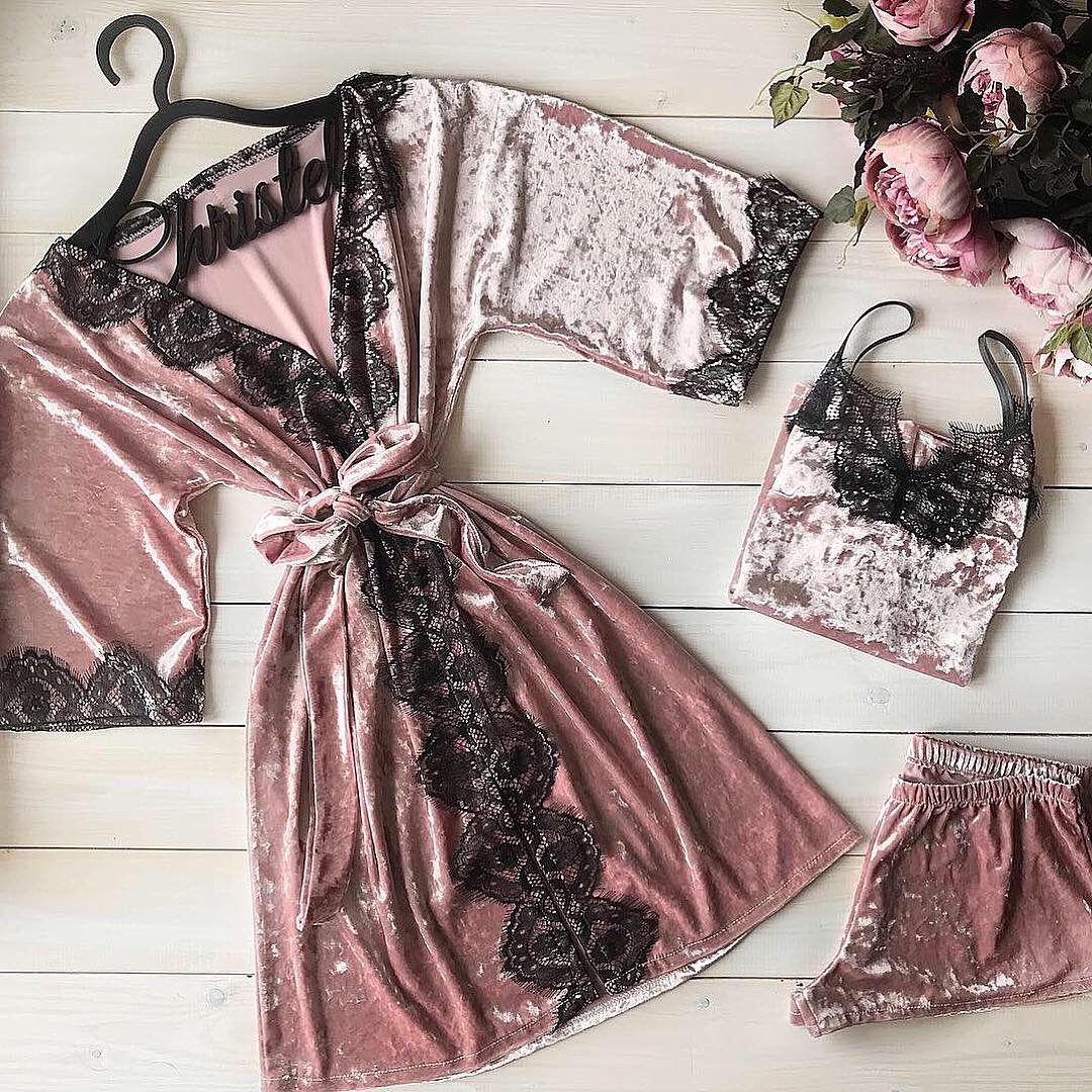 Велюровый халат+ пижама