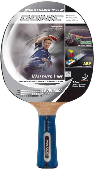 Ракетка для настольного тенниса Donic Waldner 3000 Platinum состоит из  основания с двумя карбоновыми слоями c5ebcc6fa53c1