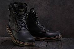 Мужские зимние ботинки Belvas черно-коричневые топ реплика