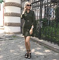Платье-рубашка хаки, арт.1007, фото 1