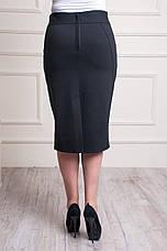 """Женская юбка """"Эмилия"""" черного цвета размеры 48-58, фото 3"""