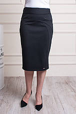 """Женская юбка """"Эмилия"""" черного цвета размеры 48-58, фото 2"""