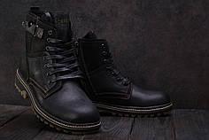 Мужские зимние ботинки Belvas черные топ реплика