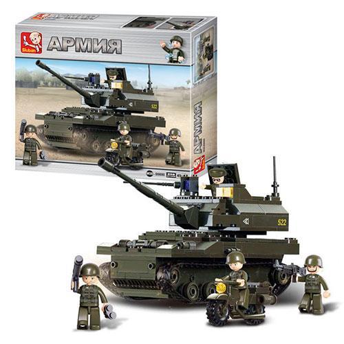 Конструктор SLUBAN M38-B9800  танк, фигурки, 258дет, в кор-ке, 33-28-7