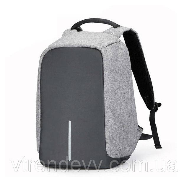 Рюкзак антивор BOBBY Silver серый реплика
