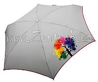 Женский зонт Nex МИНИ Яркое дерево серый ( механика, 5 сложений ) арт. 65511-10