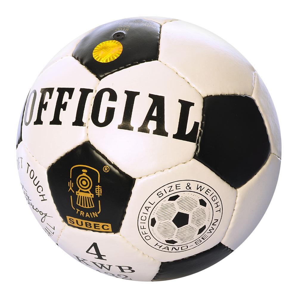 Мяч футбольный MS 1719-4  Official размер 4, ПУ,ручная работа, 400г, в