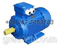 Электродвигатель АИР 71B6 0,55 кВт, 1000 об/мин. Лапы, фланец, комбинированный