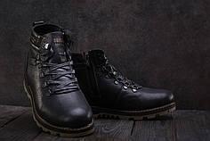 Мужские зимние кроссовки Belvas коричнево-черные топ реплика
