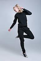 SEWEL Вязаный костюм SC407 (42-44, черный, серо-голубой, 100% акрил)