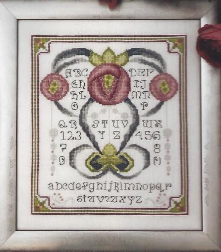 Схема для вышивки Art Nouveau Rose