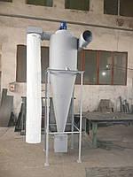 Циклон разгрузитель со встроенным вентилятором