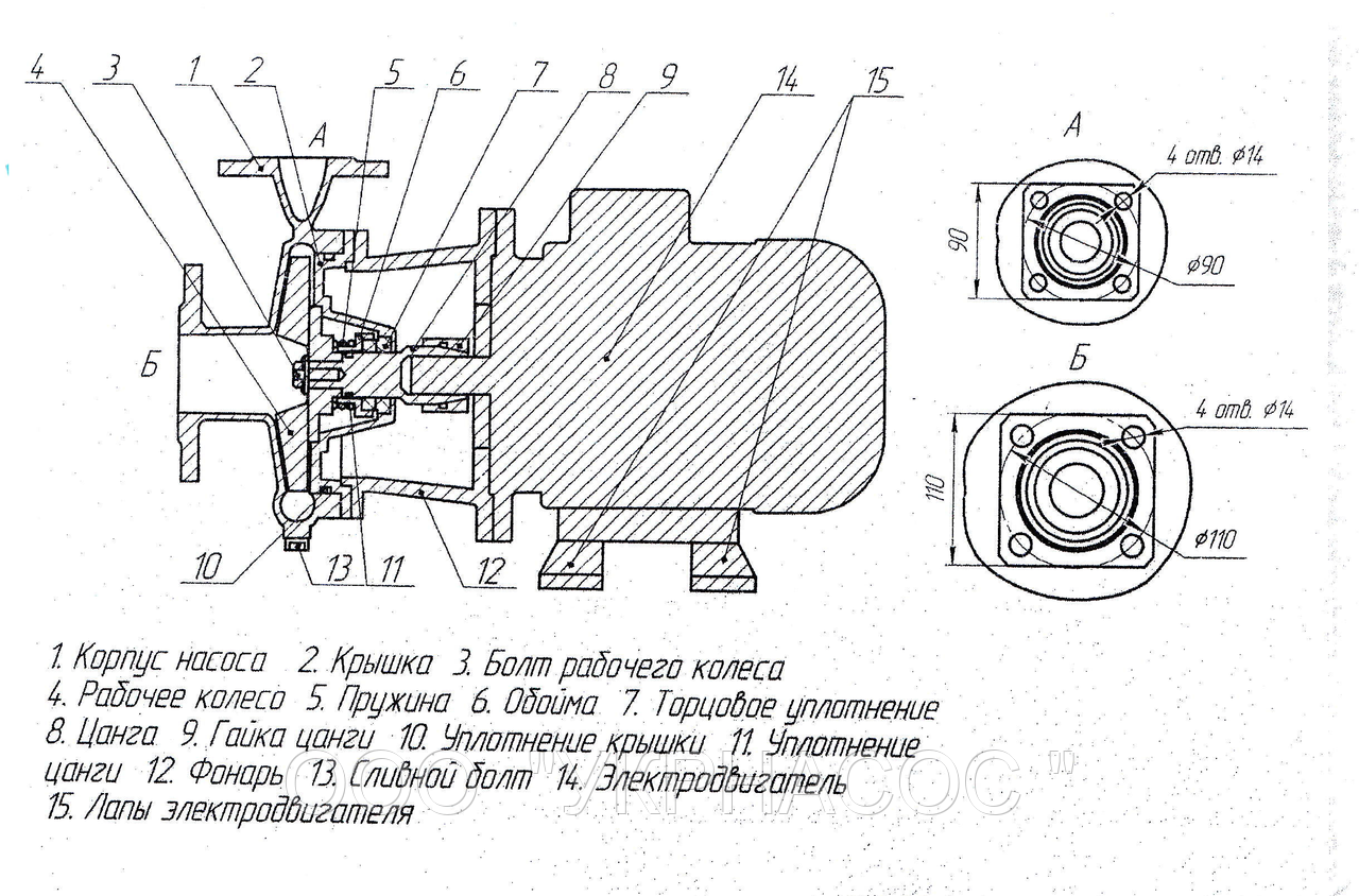 Рабочее колесо насоса КМ 50-32-148